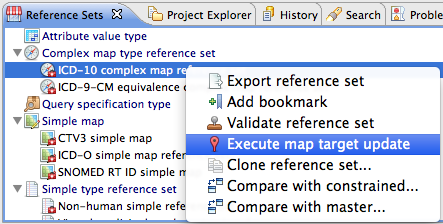 Mapping  Complex map type reference sets